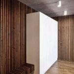 Декоративные рейки на стене в интерьере - фото (8)