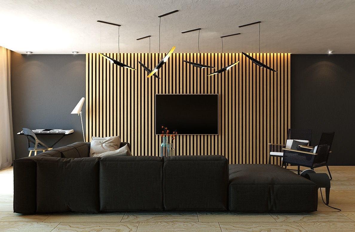 Декоративные стеновые рейки в интерьере