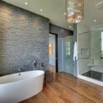 Декоративный камень в ванной комнате - фото (10)