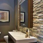 Декоративный камень в ванной комнате - фото (13)