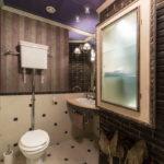 Декоративный камень в ванной комнате - фото (3)