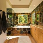 Декоративный камень в ванной комнате - фото (5)