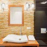 Декоративный камень в ванной комнате - фото (6)