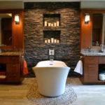 Декоративный камень в ванной комнате - фото (8)