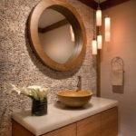 Декоративный камень в ванной комнате - фото (9)
