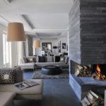 Декоративный камень в интерьере гостиной - фото (11)