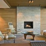 Декоративный камень в интерьере гостиной - фото (8)