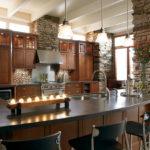 Декоративный камень в интерьере кухни и столовой - фото (10)