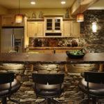Декоративный камень в интерьере кухни и столовой - фото (2)