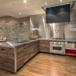 Декоративный камень в интерьере кухни и столовой - фото (4)