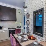 Декоративный камень в интерьере кухни и столовой - фото (7)