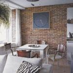 Декоративный камень в интерьере кухни и столовой - фото (8)