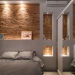 Декоративный камень в интерьере спальни - фото (10)
