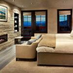 Декоративный камень в интерьере спальни - фото (11)