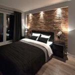 Декоративный камень в интерьере спальни - фото (7)