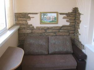Декоративный камень на лоджии - фото (4)