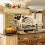 Дизайн кухни в стиле прованс - фото (37)