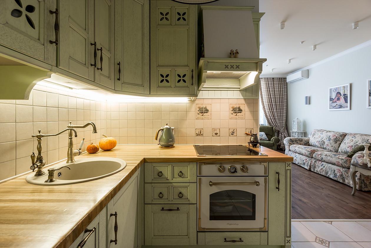 Дизайн кухни в стиле прованс - фото (38)