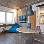 Дизайн стен в кухне-лофт
