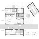 Коттедж в скандинавском стиле - план этажа