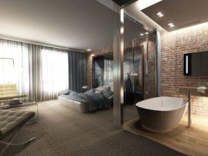 Купель в лофт-спальне (2)