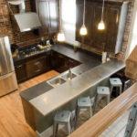 Кухня в стиле лофт - фото (36)