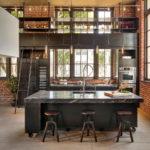 Кухня в стиле лофт - фото (37)