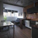 Кухня в стиле лофт - фото (38)