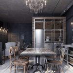 Кухня в стиле лофт - фото (42)