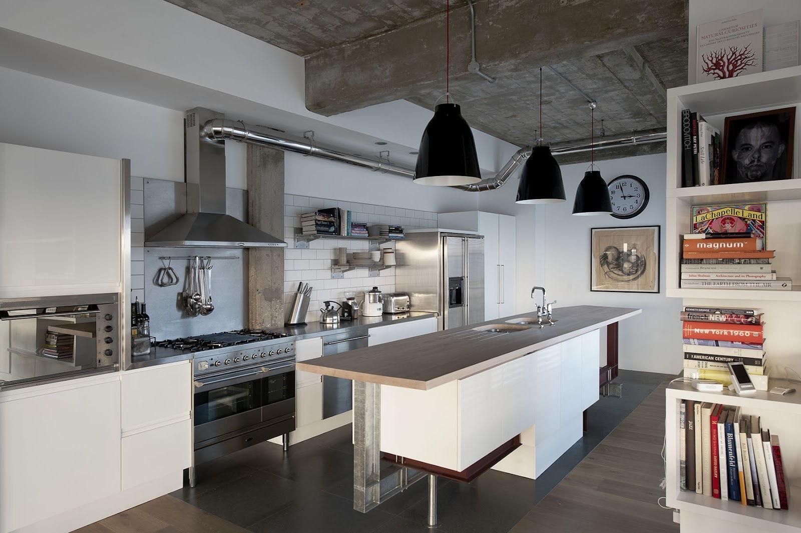 кухни в промышленном стиле фото вариант предполагает