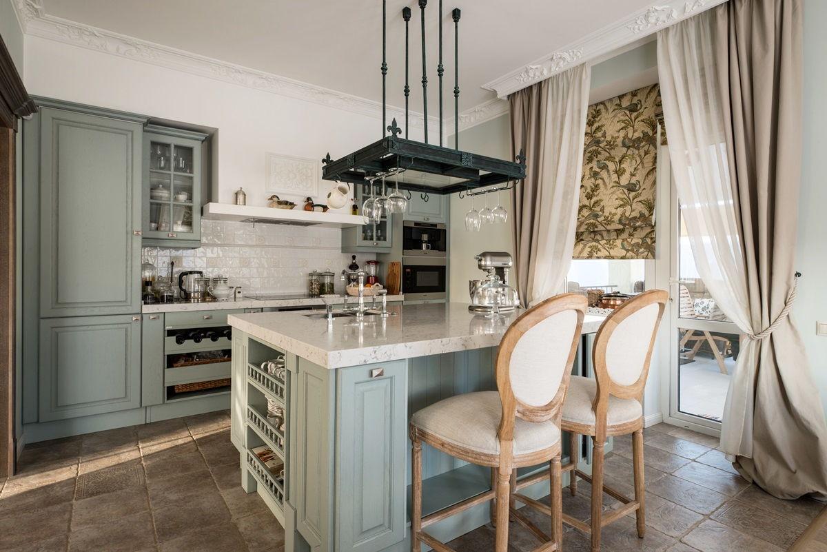 Дизайн дачной кухни в стиле прованс