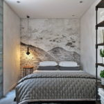 Маленькая спальня в стиле лофт (4)