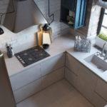 Меблировка узкой кухни в стиле лофт