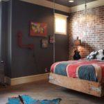 Подростковая спальня в стиле лофт