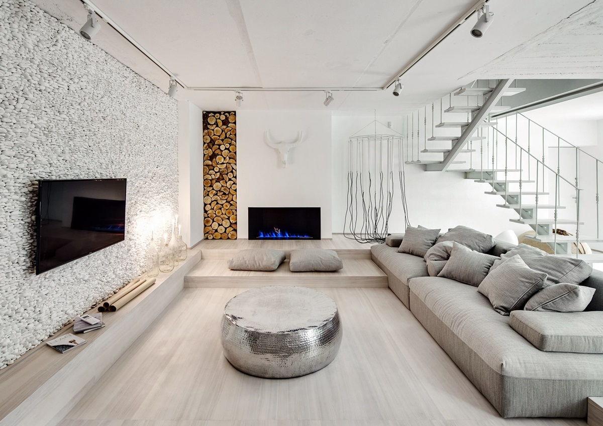 Скандинавский стиль в интерьере + декоративный камень