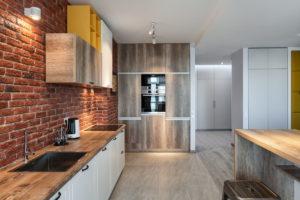 Современная мебель для кухни в стиле лофт