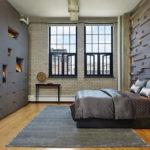 Спальня в стиле лофт - фото (10)