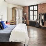 Спальня в стиле лофт - фото (17)