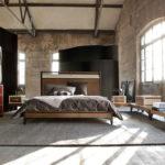 Спальня в стиле лофт - фото (19)