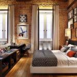 Спальня в стиле лофт - фото (20)
