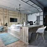 Спальня в стиле лофт - фото (3)