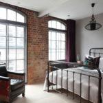 Спальня в стиле лофт - фото (5)