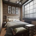 Спальня в стиле лофт - фото (7)