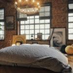 Спальня в стиле лофт - фото (8)