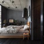 Спальня в стиле лофт - фото (9)