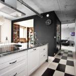Цвета в кухне-лофт