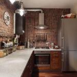 Циферблат для украшения кухни в стиле лофт