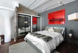 Шинные системы освещения для спальни в стиле лофт