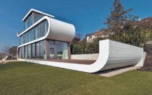 Геометрический хай-тек в частной архитектуре
