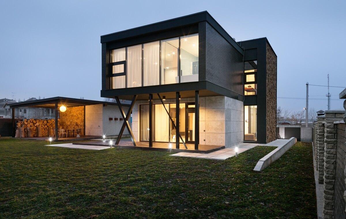 Построить стильный дом фото